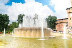 Fonte de Di Praça Castello fotos de stock royalty free