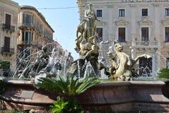 A fonte de Diana - (Ortigia/Siracusa) Imagens de Stock