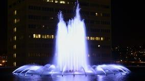 Fonte de DWP na noite no lapso de tempo do centro de Los Angeles vídeos de arquivo