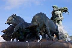 Fonte de Gefion, Copenhaga Foto de Stock