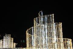 Fonte de incandescência Cidade da noite fotos de stock royalty free