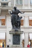A fonte de Joseph na rua de Graben, Viena, Áustria imagem de stock