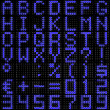 fonte de la matrice de points 3D avec la réflexion Image stock
