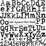 Fonte de máquina de escrever velha do vetor Imagem de Stock