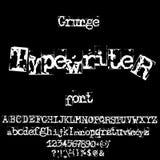 Fonte de máquina de escrever velha do vetor Letras do grunge do vintage Letras impressas destruídas velhas Fotos de Stock Royalty Free
