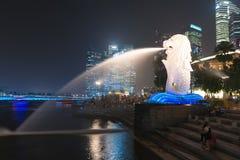 A fonte de Merlion é um símbolo de Singapura Imagem de Stock Royalty Free