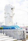 A fonte de Merlion em Singapura Foto de Stock Royalty Free