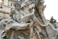 Fonte de Navona da praça, Roma imagem de stock
