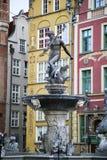 Fonte de Neptun em Gdansk, Polônia Foto de Stock