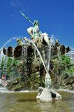 Fonte de Netuno em Berlim, Alemanha Fotografia de Stock