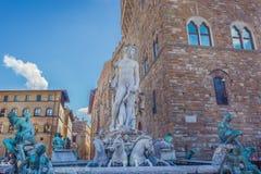 Fonte de Netuno, Florence Italy Imagem de Stock