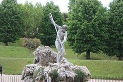 Fonte de Netuno no centro dos jardins de Boboli O escultor, Stoldo Lorenzi Florença foto de stock