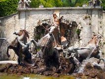 Fonte de Netuno no palácio de Linderhof Fotografia de Stock