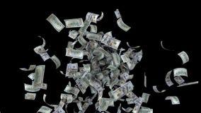 A fonte de notas de dólar dos E.U. dá laços ilustração do vetor
