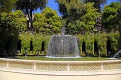 A fonte de Ovato no parque do ` Este da casa de campo d, Tivoli, Itália Imagens de Stock