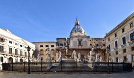 Fonte de Palermo da vergonha Imagens de Stock Royalty Free