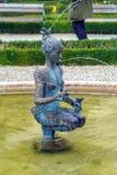 Fonte 1984 de Papagena por Magnus no jardim de Mirabell Foto de Stock Royalty Free