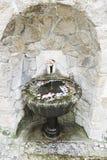 Fonte de pedra velha com flores Imagem de Stock Royalty Free