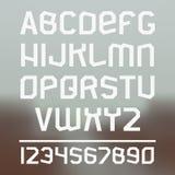 Fonte de Sans Serif Foto de Stock