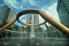 Fonte de Singapura da cidade de Suntec da riqueza Fotografia de Stock Royalty Free