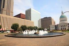 Fonte de St Louis - de plaza de Kiener Fotografia de Stock Royalty Free