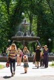 Fonte de Termen no parque de Mariinsky kiev Imagem de Stock