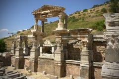 A fonte de Trajan Foto de Stock Royalty Free