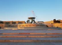 Fonte de Valletta do ouro fotos de stock royalty free