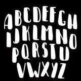 Fonte de vetor caligráfica Caráter tipo moderno da caligrafia do estilo escrito à mão da escova Imagem de Stock