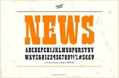 Fonte dei caratteri tipografici con grazie della lastra nello stile occidentale royalty illustrazione gratis