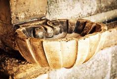 Fonte dell'acqua santa, filtro giallo Fotografia Stock Libera da Diritti