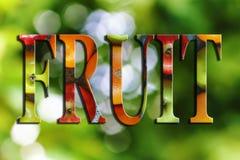 Fonte della frutta, isolata, verde, giardino di estate, salute, alimento, Fotografia Stock Libera da Diritti