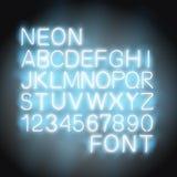 Fonte della luce al neon Immagini Stock Libere da Diritti
