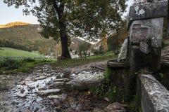 Fonte della montagna Fotografie Stock