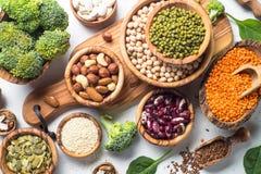 Fonte della proteina del vegano fotografie stock libere da diritti