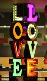 Fonte delle luci al neon di amore Immagini Stock