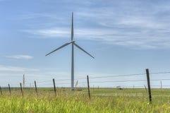 Fonte di energia del mulino a vento in Pawhuska Oklahoma fotografia stock