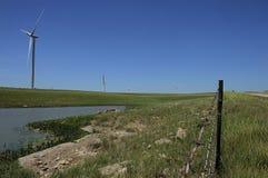 Fonte di energia del mulino a vento in Pawhuska Oklahoma Immagine Stock Libera da Diritti