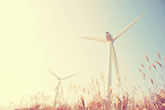 Fonte di energia del vento Fotografie Stock