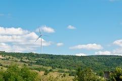 Fonte di energia rinnovabile del generatore eolico Fotografie Stock Libere da Diritti