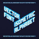 fonte di vettore isometrica di alfabeto 3d Immagini Stock
