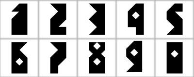 Fonte digitale delle icone Immagine Stock