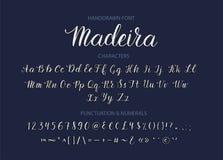 Fonte disegnata a mano dello scritto di vettore Carattere strutturato del corsivo di calligrafia di stile della spazzola illustrazione vettoriale