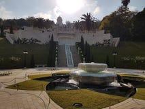 A fonte do 'à do ¡ de Bahà jardina em Haifa foto de stock royalty free