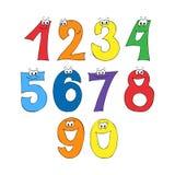 Fonte do arco-íris, alfabeto de 123 numerais Ilustração Royalty Free