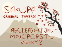 Fonte do círculo de Sakura fotografia de stock royalty free