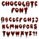 Fonte do chocolate ilustração royalty free