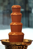 Fonte do chocolate imagem de stock