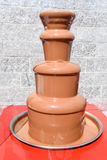 Fonte do chocolate na montagem Generoso fotografia de stock royalty free