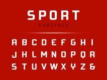 Fonte do esporte Alfabeto do vetor com letras latin ilustração stock
